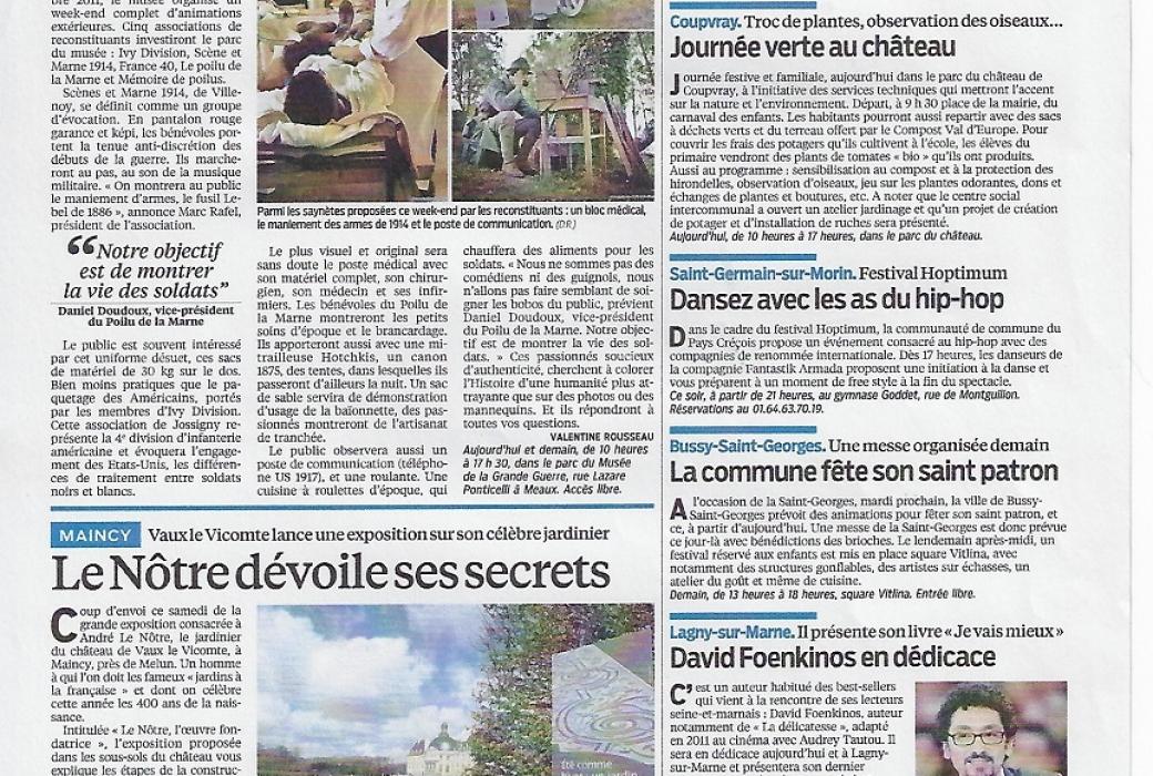 Le parisien 20 avril 2013