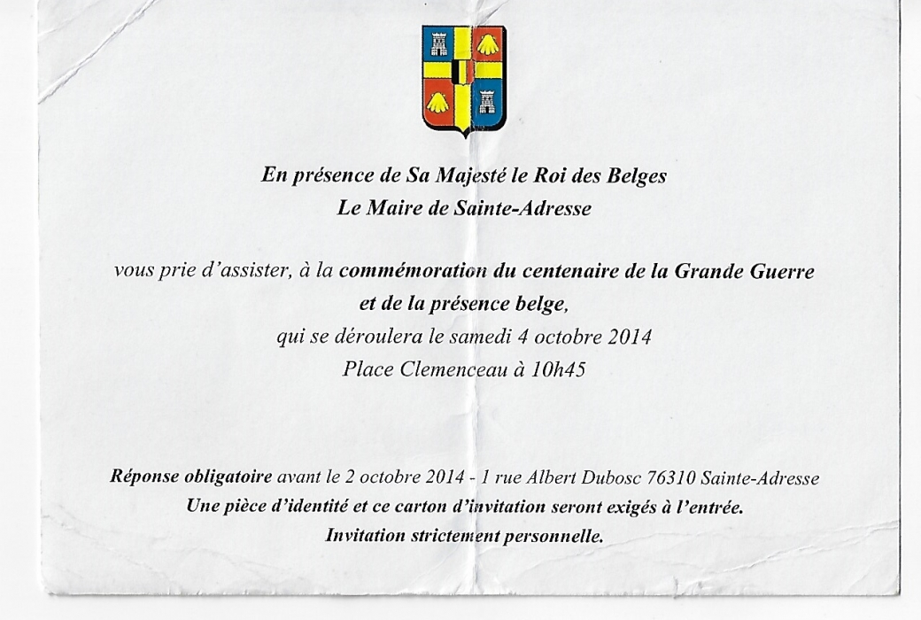 invitation sainte adresse 4 octobre 2014