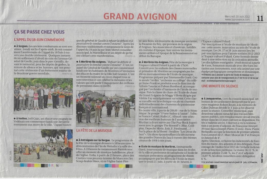 la provence 20 juin 2012