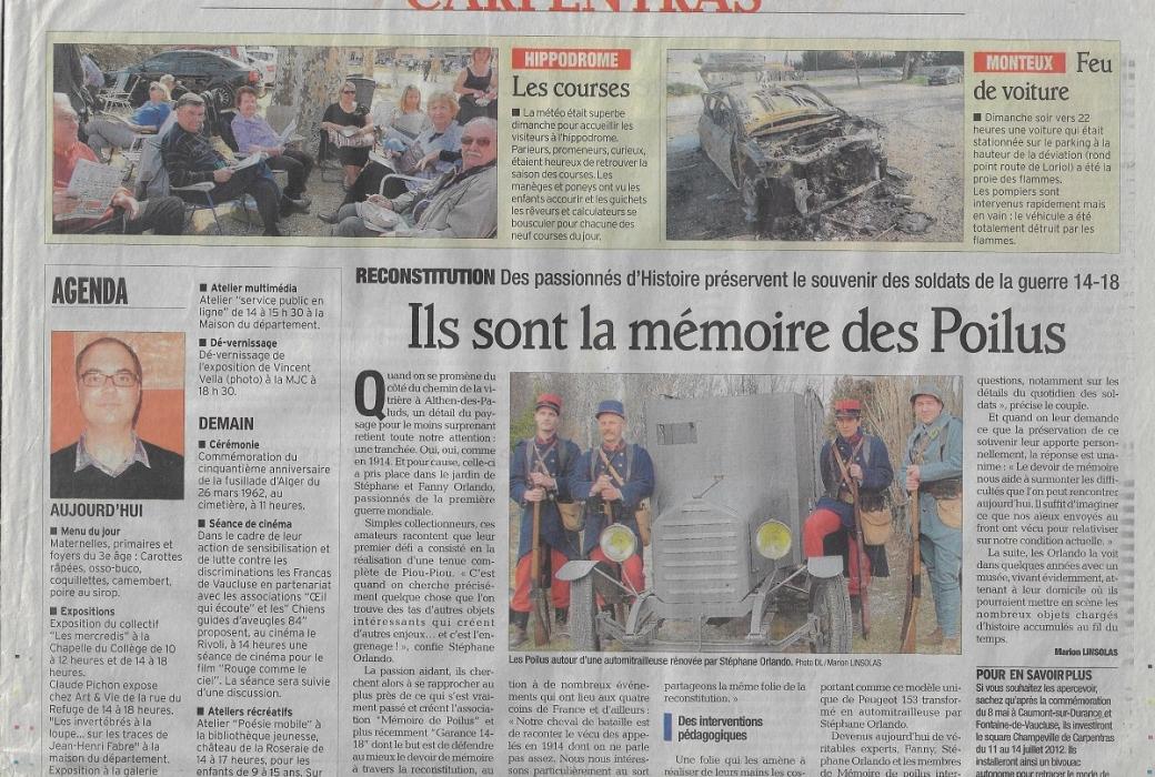 vaucluse matin 27 mars 2012