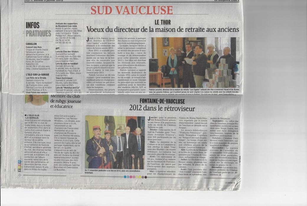 vaucluse matin 5 janvier 2013